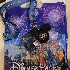 Disney Parks 45 Anniversary light up lanyard